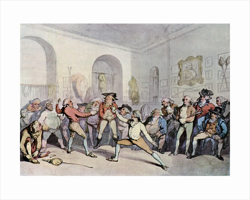 Mr H Angelo's Fencing Academy by Thomas Rowlandson