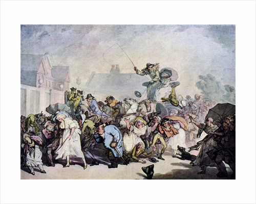 A Squall in Hyde Park by Thomas Rowlandson
