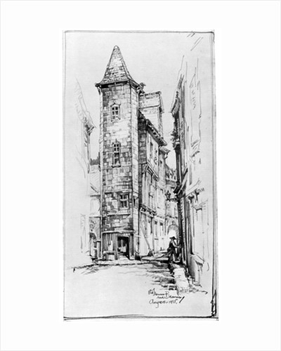 Old House at Angers by M Adams-Acton