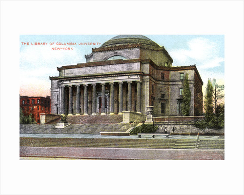 Columbia University library, New York, USA by Anonymous