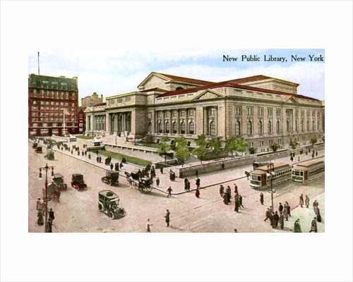 The New Public Library, New York, USA by Anonymous