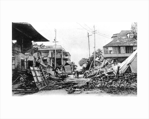 Earthquake damage, King Street and Harbour Street, Kingston, Jamaica by Anonymous