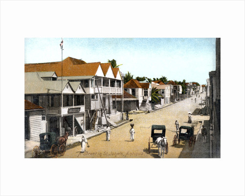 A street in St.John's, Antigua by Anonymous