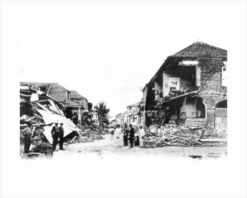 Earthquake damage, Duke Street, Kingston, Jamaica by Anonymous
