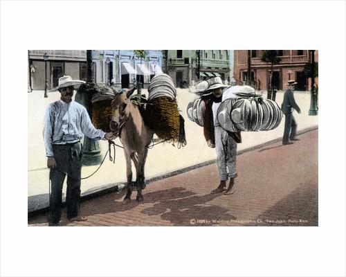 Hat vendors, San Juan, South America by Waldrop