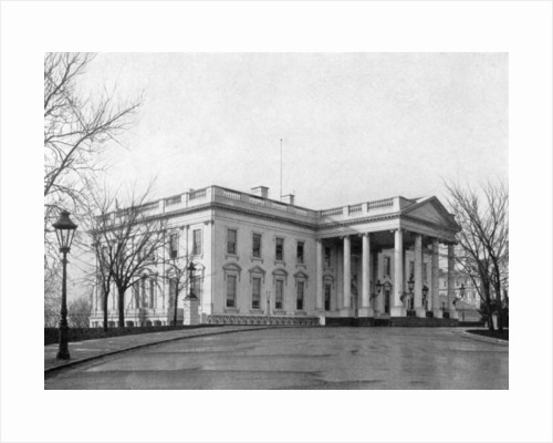 The north portico of the White House, Washington D.C., USA by Anonymous