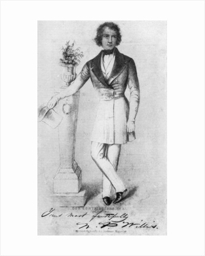 Nathaniel Parker Willis (1806-1867), American author, poet and editor by Anonymous