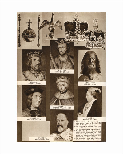 Kings and crown jewels by Anonymous