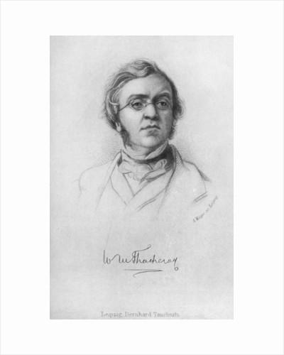 William Makepeace Thackeray, English novelist by A Weger