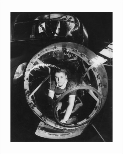 A woman working on a Lancaster bomber, Second World War by Anonymous