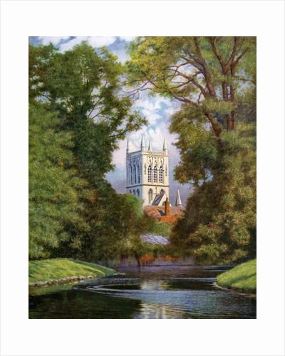 'St John's College Chapel', Cambridge by FC Varley