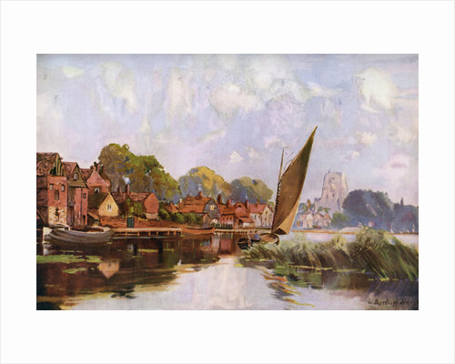 'On the River at Beccles', Suffolk by Louis Burleigh Bruhl