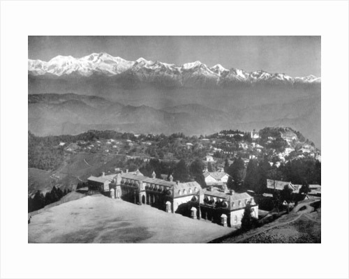 The Snow Range and Darjeeling from above St Paul's School, West Bengal, India by Anonymous