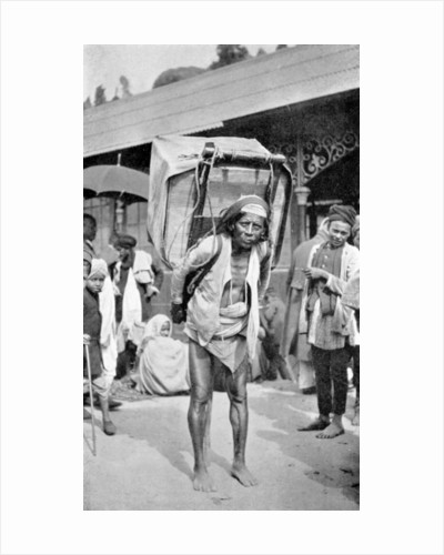 A labourer carrying tea, Darjeeling, West Bengal, India by Anonymous