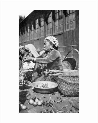 A bazaar in Darjeeling, West Bengal, India by Anonymous