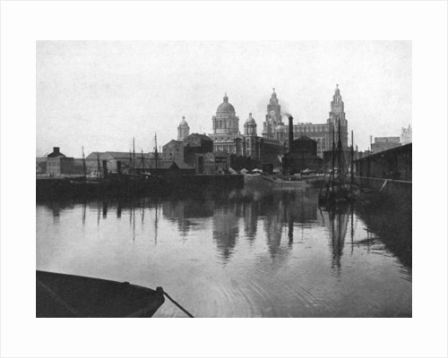 Canning Dock, Liverpool by Valentine & Sons