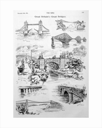 'Great Britain's Great Bridges', advert for Owbridge Lung Tonic by Anonymous