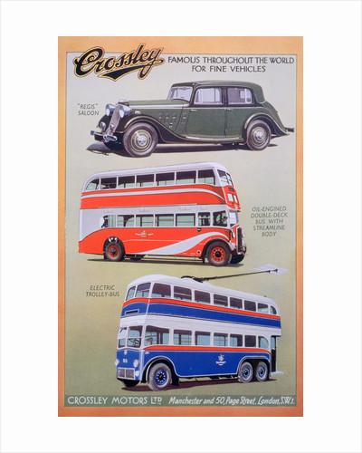 Crossley Motors advert by Anonymous