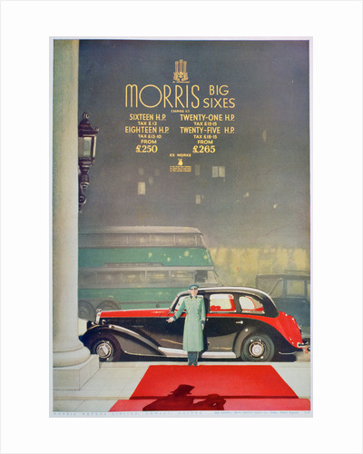 Advert for the Morris Big Six motor car by Anonymous
