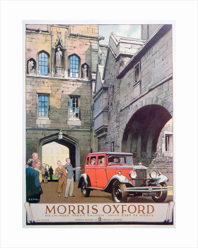 Advert for the Morris Oxford motor car by Anonymous