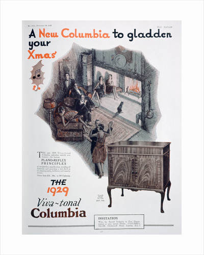 Christmas advert for Columbia gramophones by Anonymous