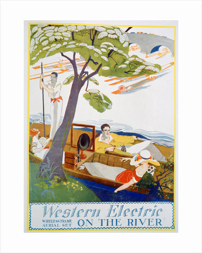 Advert for Western Electric Company wireless frame aerial sets by Anonymous