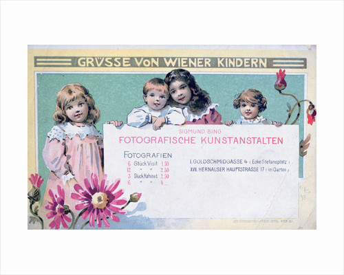 Early Viennese photographer's advertising card by Anonymous