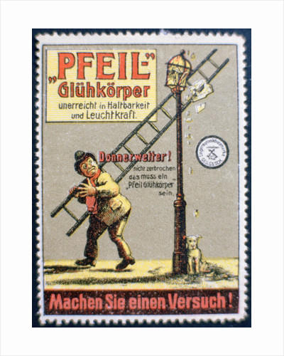 German gas mantle advertising label by Anonymous