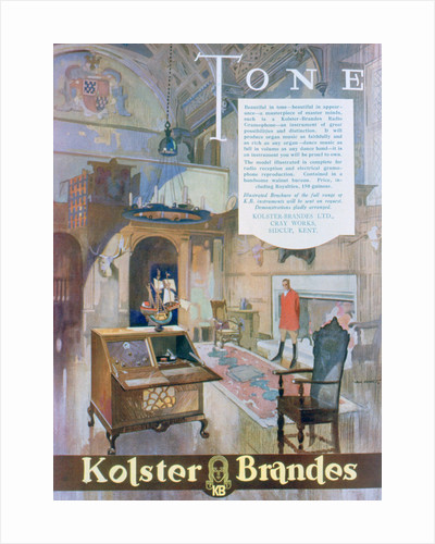 Advert for Kolster Brandes radio gramophones by Anonymous