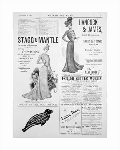 An advertising page in Hearth and Home by Anonymous