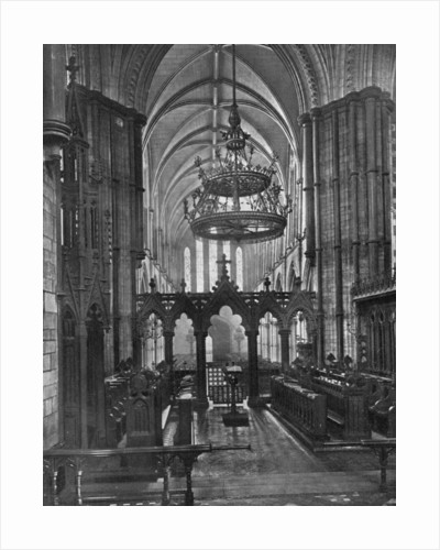 Interior of Christ Church Cathedral, Dublin, Ireland by Valentine & Sons