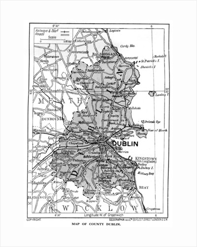 Map of County Dublin, Ireland by Anonymous