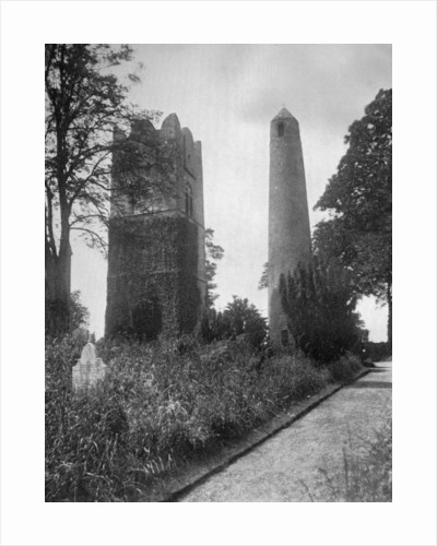 The Round Tower of Swords, Dublin, Ireland, from the east by Valentine & Sons