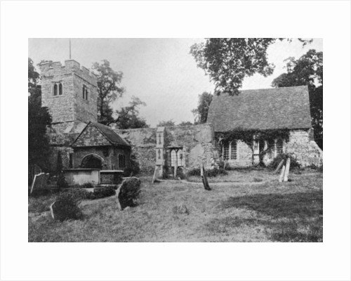 The old church, Chingford, Essex by Anonymous