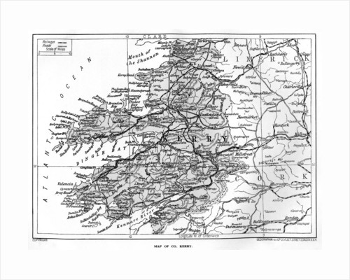 Map of County Kerry, Ireland by Anonymous