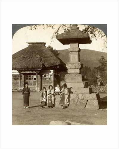 Children in the playground of a village school, Japan by Underwood & Underwood