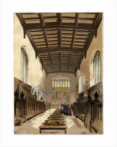 Interior of St John's College Chapel, Cambridge, Cambridgeshire by Anonymous