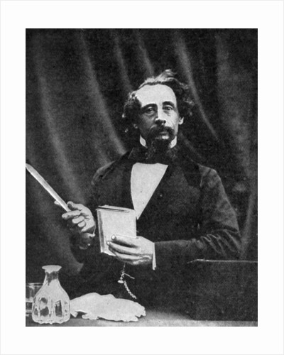 Charles Dickens giving a reading by Herbert Watkins