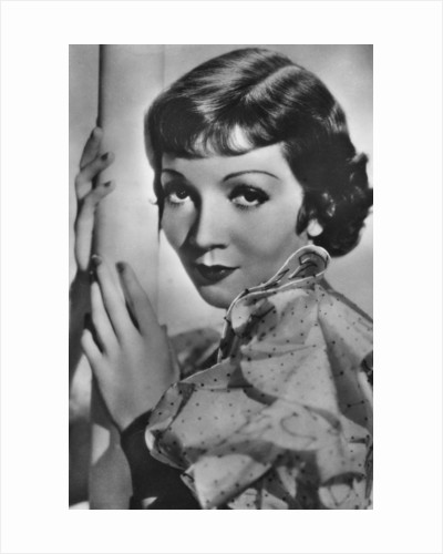 Claudette Colbert, French-born American stage and film actress by Paramount Pictures