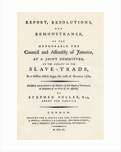 A remonstration of the subject of the slave trade by Anonymous