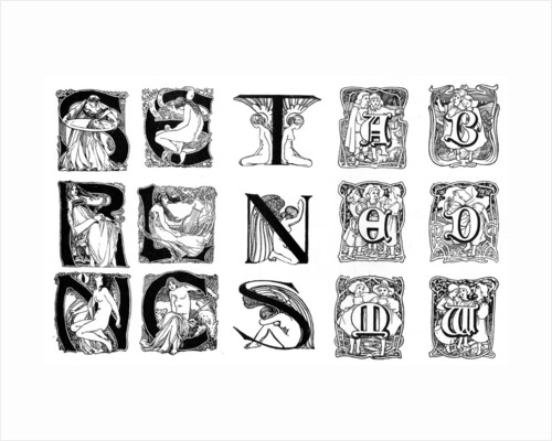 A set of decorative initial letters by Anonymous