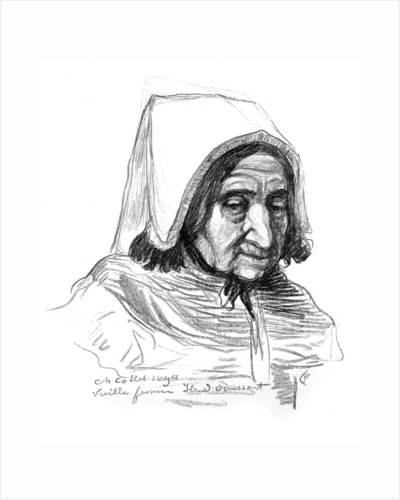 Study of an old woman's head by Charles Cottet