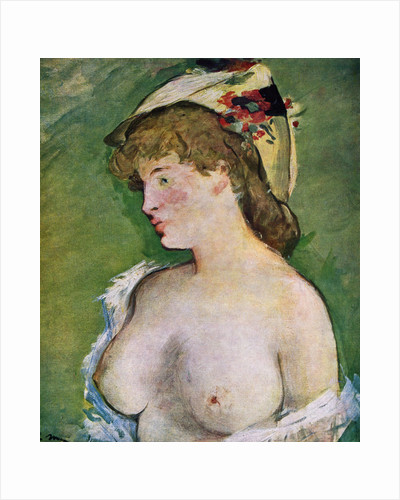 Blonde Woman with Bare Breasts by Edouard Manet