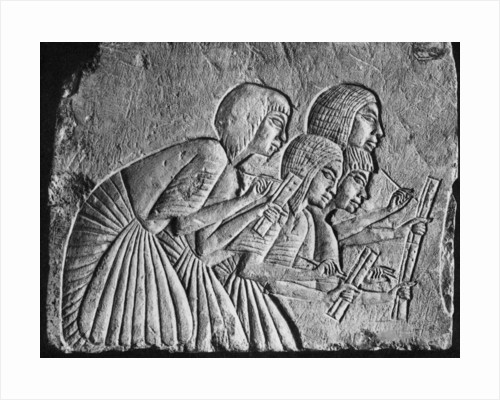 Egyptian scribes, c1350 BC by Anonymous