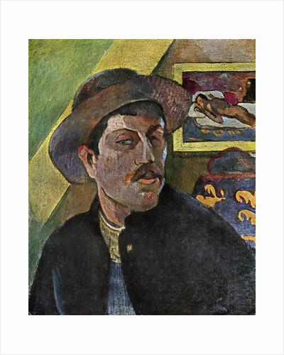 Self Portrait in a Hat by Paul Gauguin