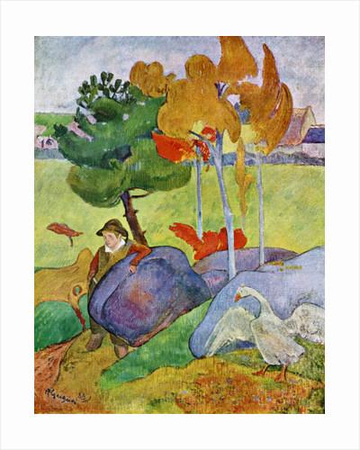 Little Breton Boy with a Goose by Paul Gauguin