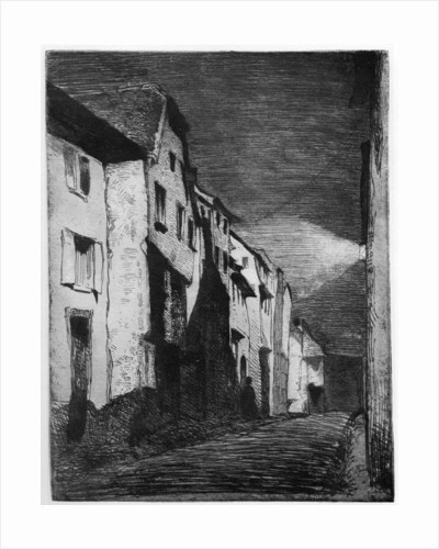 Street at Saverne by James Abbott McNeill Whistler