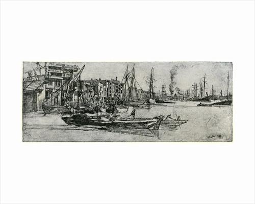 Thames Warehouse by James Abbott McNeill Whistler