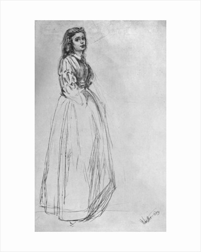 'Fumette, Standing' 1859 by James Abbott McNeill Whistler