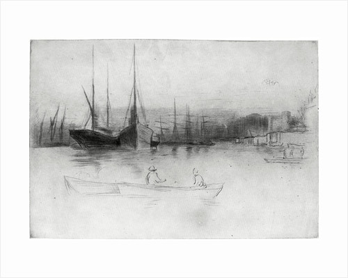 Steamboats off the Tower by James Abbott McNeill Whistler